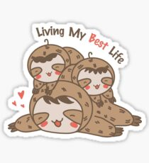 Sloth Stack Living My Best Life Sticker