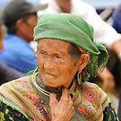 Flower Hmong at Market by Judi Corrigan