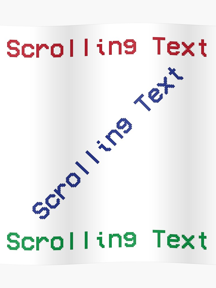 HTML Ugly Scrolling Marquee web developer | Poster