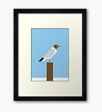 Black-headed Gull vector illustration Framed Print