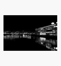 BBC Scotland and the Clyde at Night Photographic Print