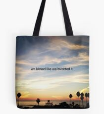 we kissed Tote Bag