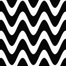 «Patrón de onda simple blanco y negro» de cadinera