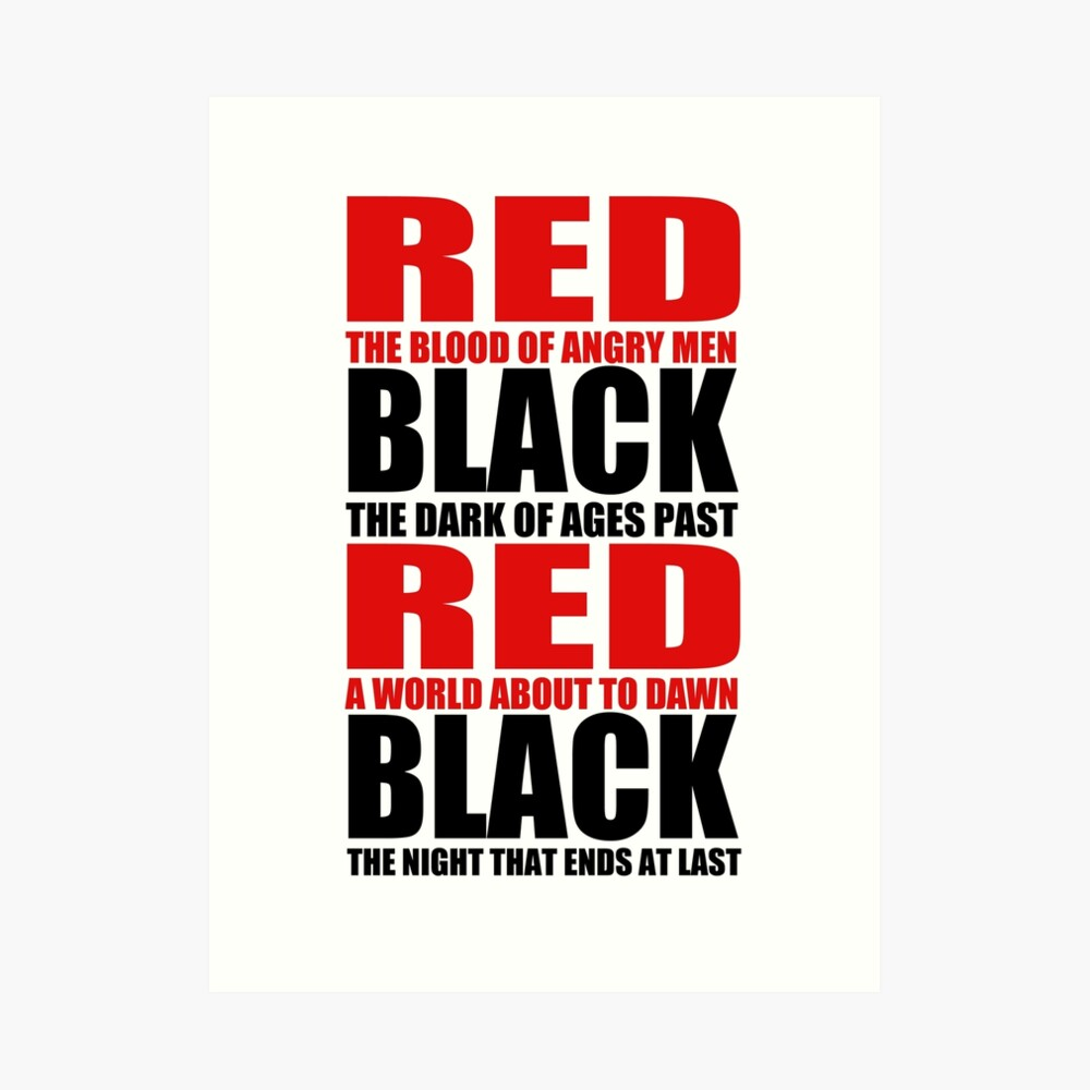 Negro rojo Lámina artística