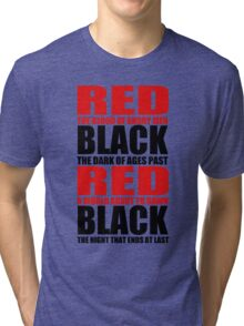 Red & Black Tri-blend T-Shirt
