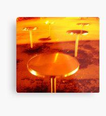 city mushrooms, night type Metal Print