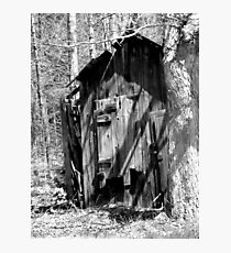 Old Shed in BW Photographic Print