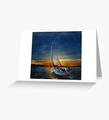 Fade To Sunset Greeting Card