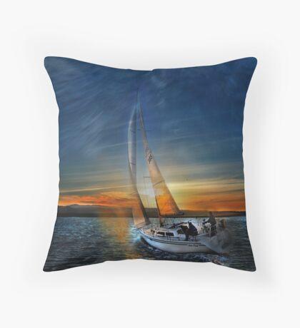 Fade To Sunset Throw Pillow