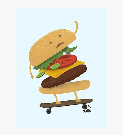 Burger Wipe-Out  Photographic Print
