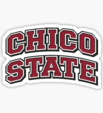 Limited Chico State Wildcats Logo - Red Bold Sticker