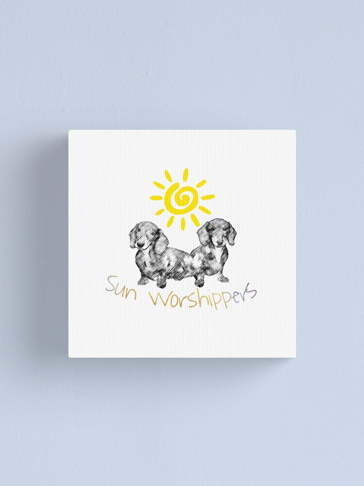 Alternate view of Dachshunds Sun Worshippers Canvas Print