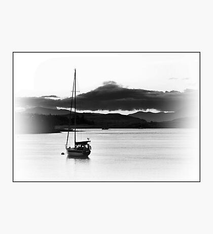 Sail Boat In Connel, Scotland. Photographic Print