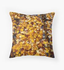 Table Cloth Of Leaves Throw Pillow