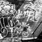 Graffiti in B&W by PPPhotoArt