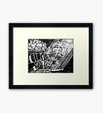 Graffiti in B&W Framed Print
