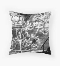 Graffiti in B&W Throw Pillow