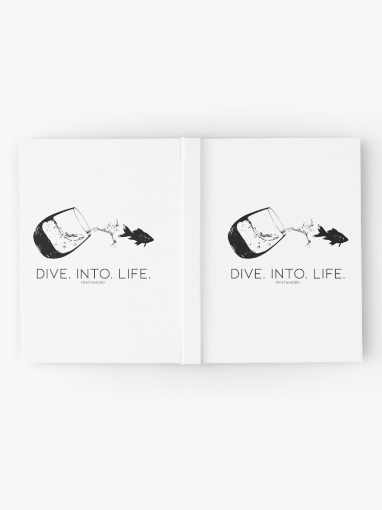 Alternate view of DIVE. INTO. LIFE. (B) Hardcover Journal