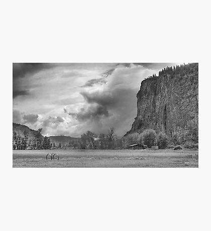 The Bluff bw Photographic Print
