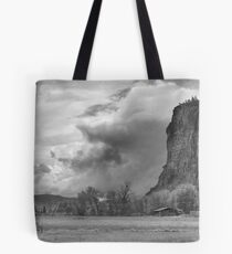 The Bluff bw Tote Bag