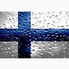 «Bandera de Finlandia - Gotas de lluvia» de Dr-Pen