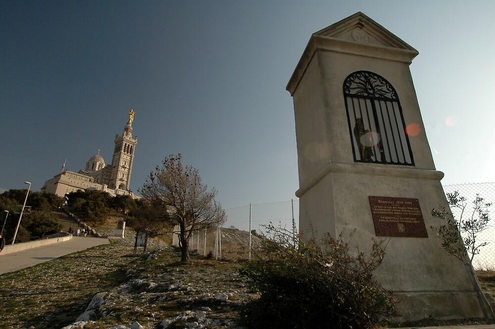 Notre-Dame De La Garde Cathedral, Marseilles,France 2012 by muz2142