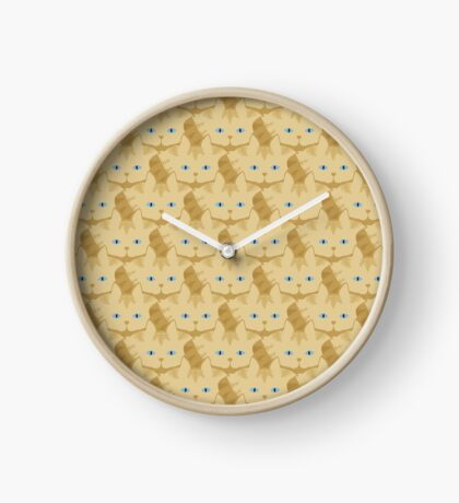 Frappé Brown Tabby Cat Cattern [Cat Pattern] Clock