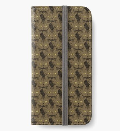 Cocoa Brown Tabby Cat Cattern [Cat Pattern] iPhone Wallet