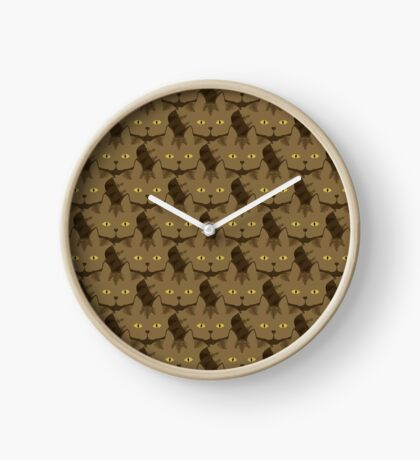 Cocoa Brown Tabby Cat Cattern [Cat Pattern] Clock
