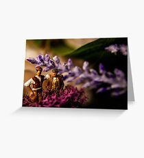 Miniatures in Conversation Greeting Card