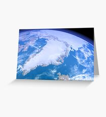 Greenland from Space Greeting Card