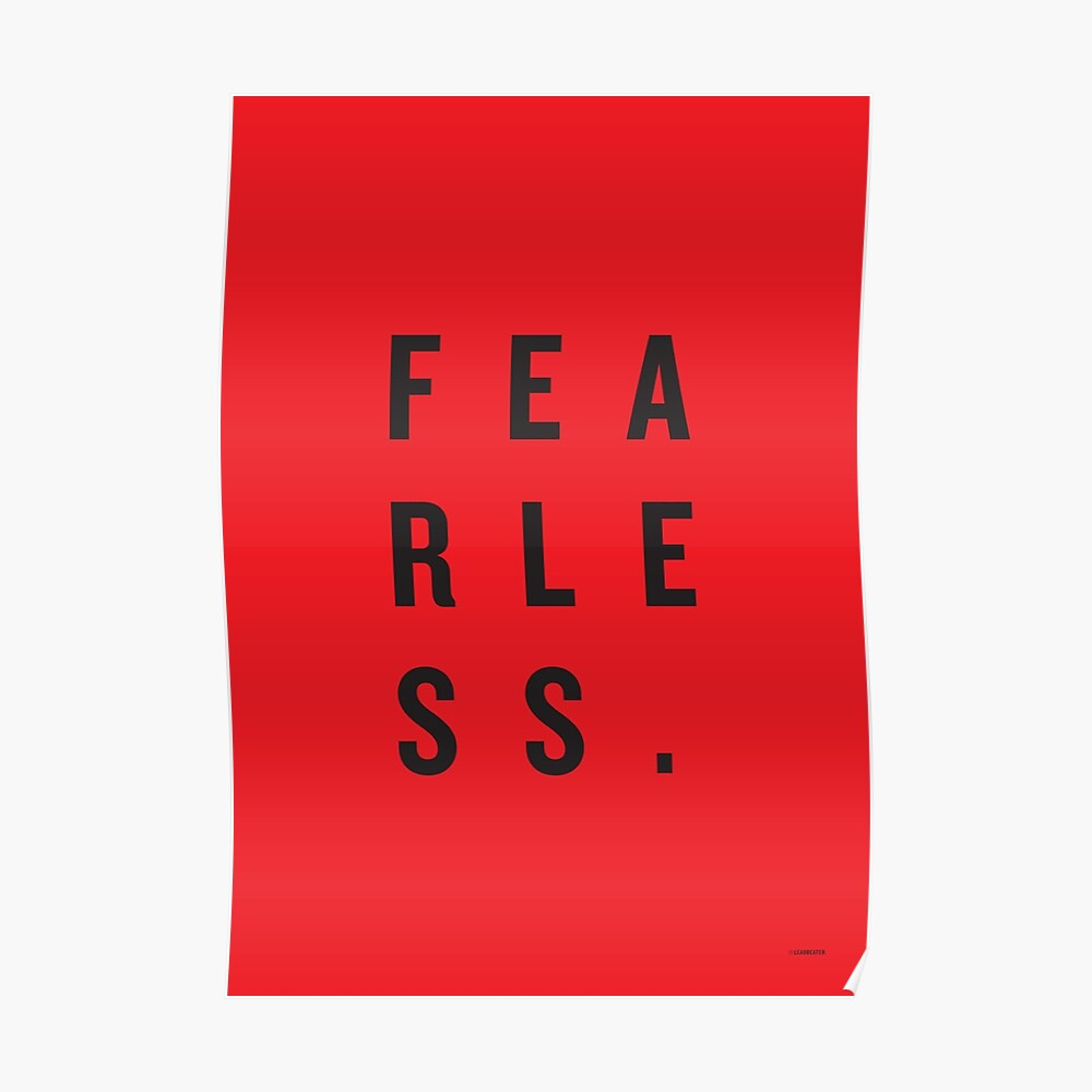 FEAR LESS. Poster
