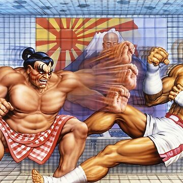 Vintage Street Fighter II Turbo SNES art by VirtuaRicky