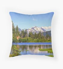 """North Cascades Spring"" Throw Pillow"