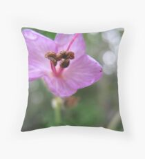 Glossy-eyed Flower Throw Pillow