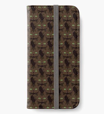 Coffee Brown Tabby Cat Cattern [Cat Pattern] iPhone Wallet