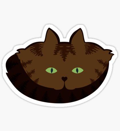 Coffee Brown Tabby Cat Cattern [Cat Pattern] Sticker