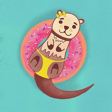 Otter donut tropical summer by YakutKeskin