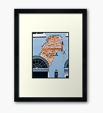 French Quarter Facade Framed Print