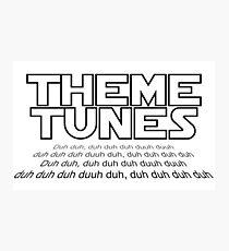 Theme tunes Photographic Print