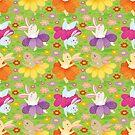 Dancing Spring bunny by Angela Sbandelli