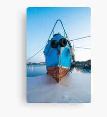 Shipwreck That Looks Like A Face Canvas Print