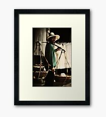 Bho Put Street Vendor Framed Print