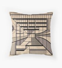Birmingham Central Library Throw Pillow