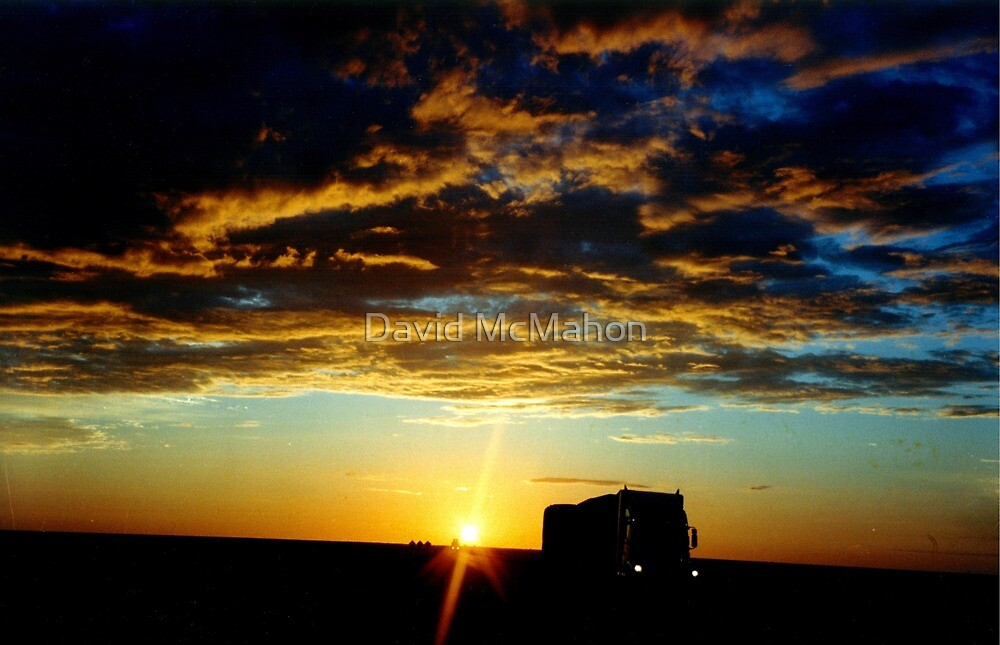 Dawn On An Outback Highway by David McMahon