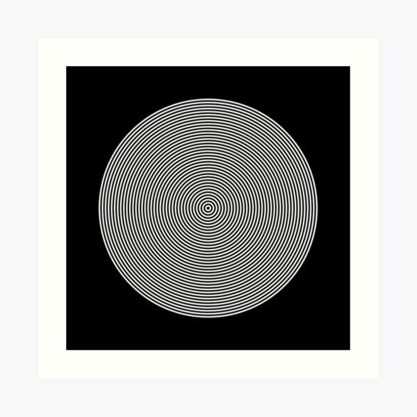Hypnotic Circles optical Illusion Art Print