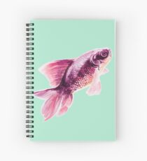 Magneta Fish on Mint  Spiral Notebook