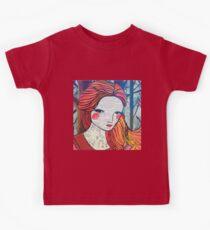 Little Red modern red portrait Kids Tee
