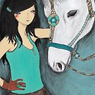 Woman with her pet horse by Alicia Rogerson