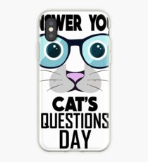 January 22nd - Answer Your Cat's Questions Day iPhone-Hülle & Cover